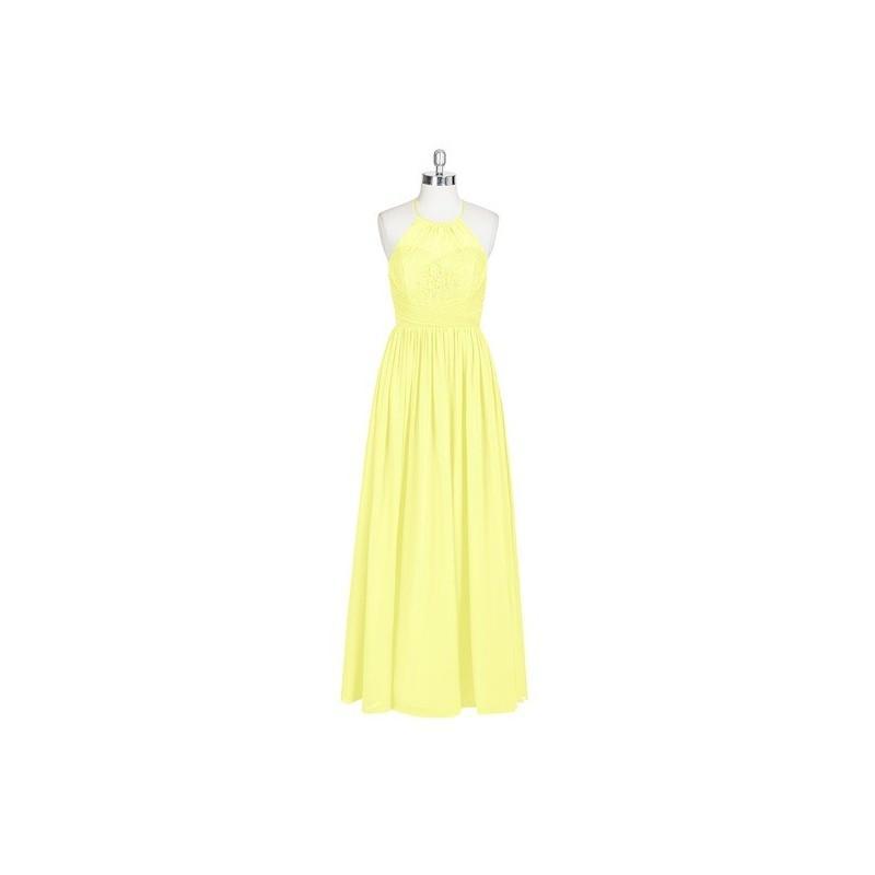 Wedding - Daffodil Azazie Harmony - Floor Length Strap Detail Halter Chiffon Dress - Cheap Gorgeous Bridesmaids Store