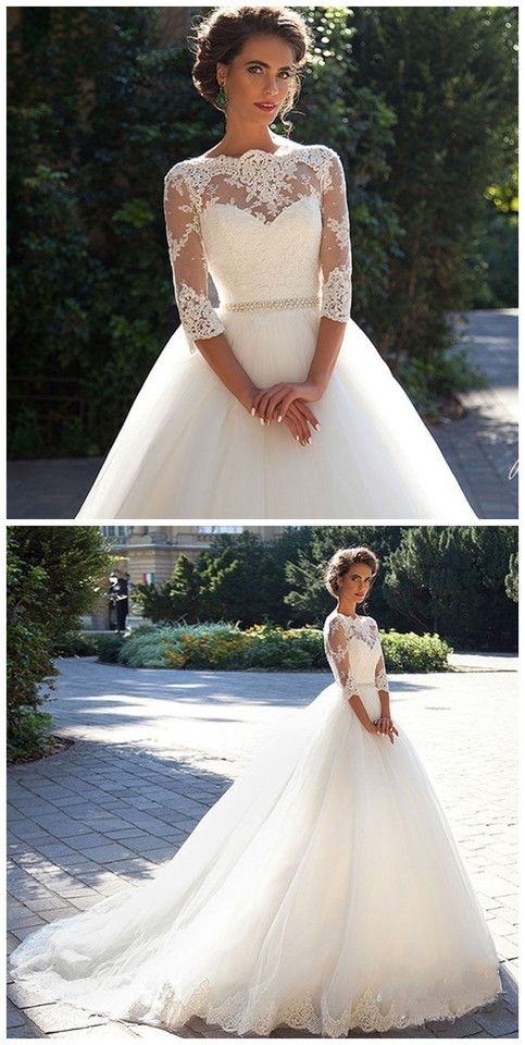 Wedding - New White/Ivory Wedding Dresse Lace Bridal Gown Wedding Gowns