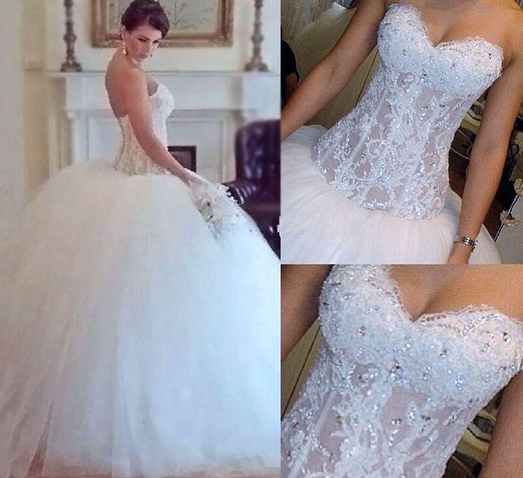 زفاف - Gorgeous Sexy Weddings Dresses,Beading Weddings Dresses,White Lace Weddings Dresses,Ball Gown Wedding Gowns,Strapless Wedding Dresses From DressWe.UK
