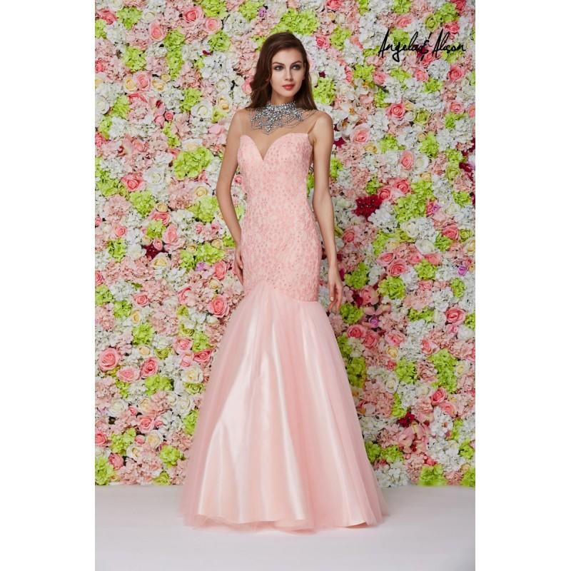 Hochzeit - Peach Angela and Alison Long Prom 61107 Angela and Alison - Rich Your Wedding Day