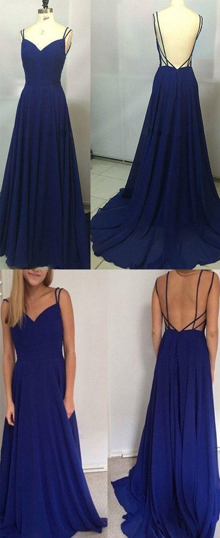 Свадьба - Sexy Spaghetti Straps A-Line Prom Dress,Long Prom Dresses,Cheap Prom Dresses, Evening Dress Prom Gowns, Formal Women Dress,Prom Dress,Z 49