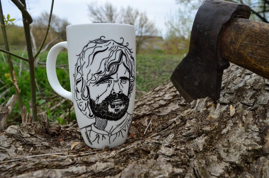 Düğün - Game of thrones mug Large coffee mug Game of thrones gift Tyrion Lannister mug Large mug Big mug Huge mug for him Gift for bearded men