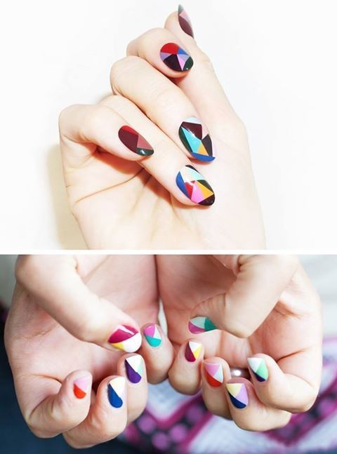 Wedding - Geometric nails