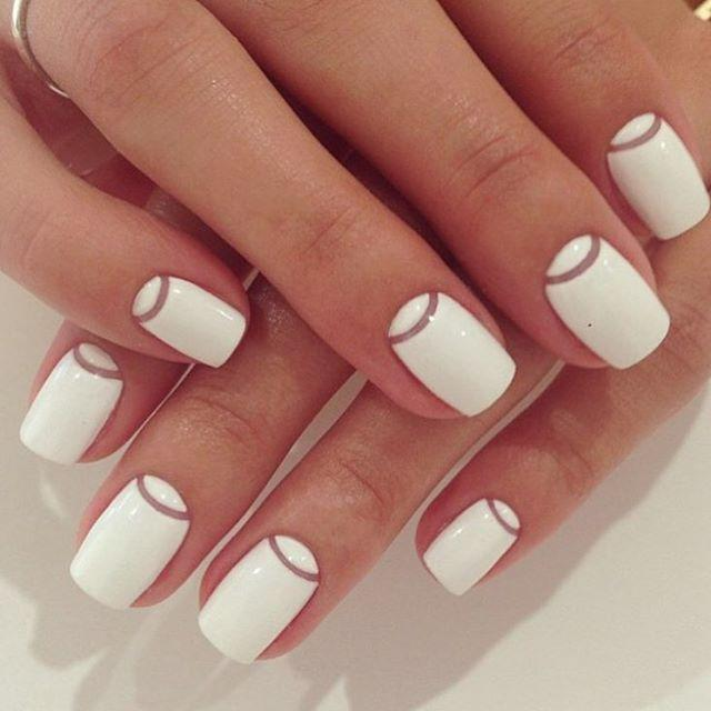 Wedding - White Nails