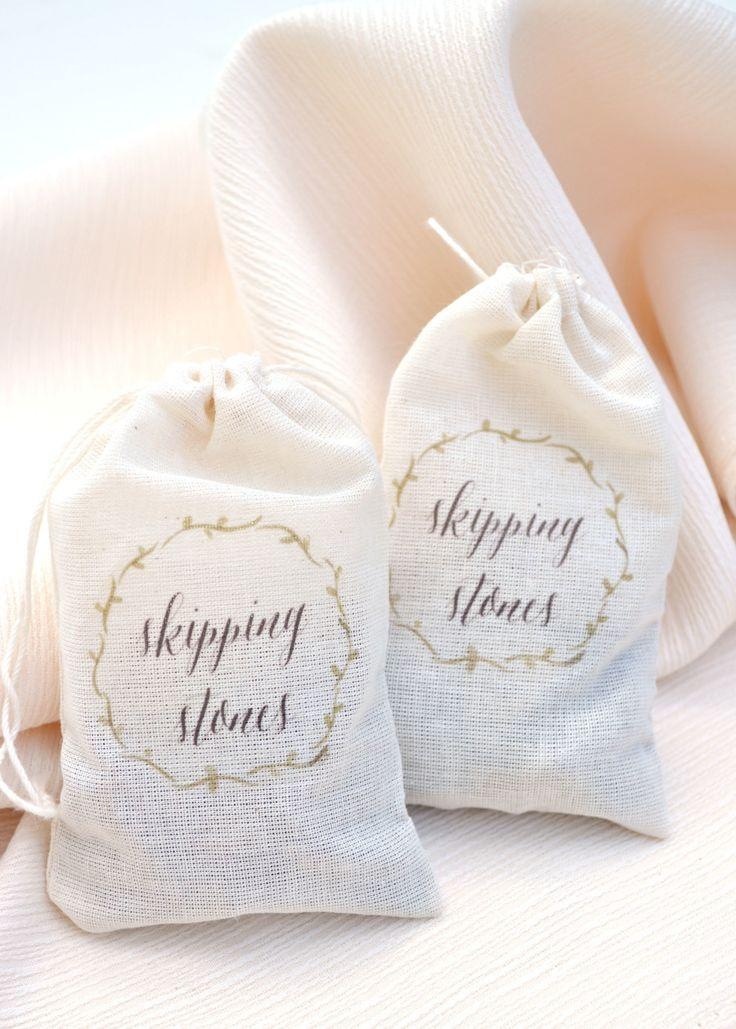 Wedding - SMP Blogger Bride: DIY Skipping Stone Favor Bags