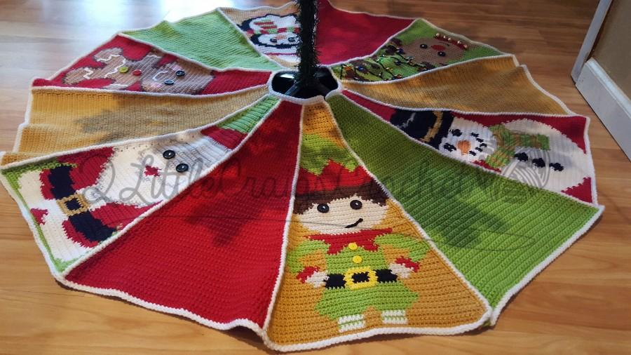 Boda - Crochet Christmas Tree Skirt - Crochet Tree Skirt - Crochet Christmas - Crochet Graph Tree Skirt - Christmas Tree Skirt - Tree Skirt Pattern