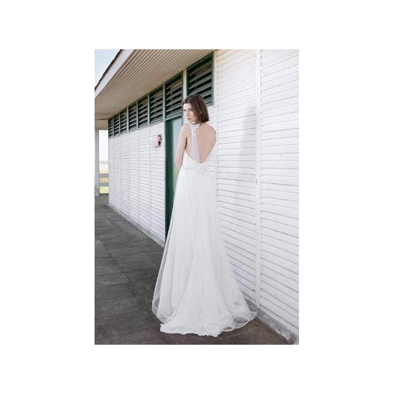 Wedding - Vestido de novia de Inmaculada Garcia Modelo Ivy, espalda - 2016 Evasé Palabra de honor Vestido - Tienda nupcial con estilo del cordón