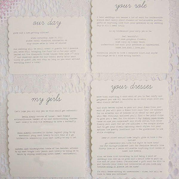 "Wedding - DIY We Love: ""Be My Bridesmaid?"" Keepsake"