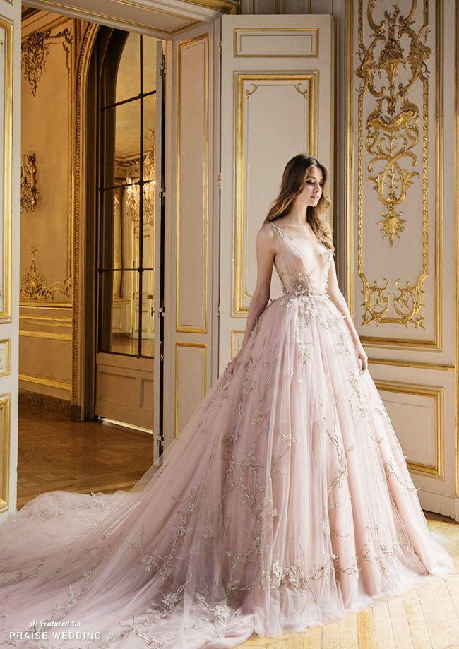 53e32288e This Soon-to-be Iconic Blush Gown From Paolo Sebastian Is Definitely Worthy  Of Sitting On A Throne! Wedding ...