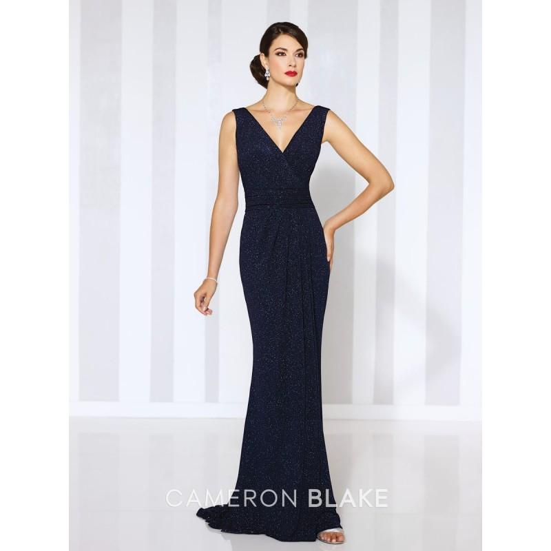 Hochzeit - Navy Blue Cameron Blake 116658 Cameron Blake by Mon Cheri - Top Design Dress Online Shop