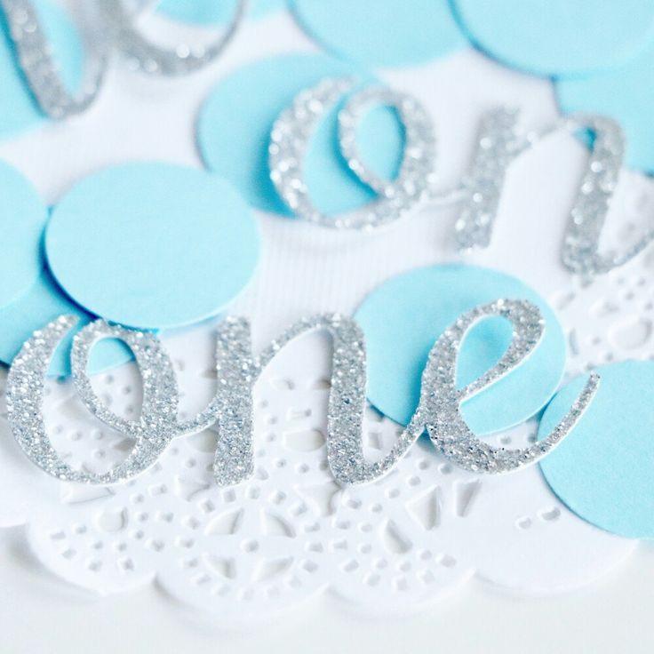 Свадьба - Glitter 1st Birthday Party Confetti, Baby Blue And Silver Confetti, Glitter Confetti, Silver Baby Shower, Baby Boy Gift