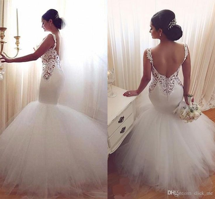 Cheap New Mermaid Wedding Dresses 2016 Sexy Long Sleeves Lace Appliques Beaded Sheer Back Plus Size Court Train Custom Wedding Dress Bridal Gowns As Low As 169 85 Also Buy Couture Wedding Dresses
