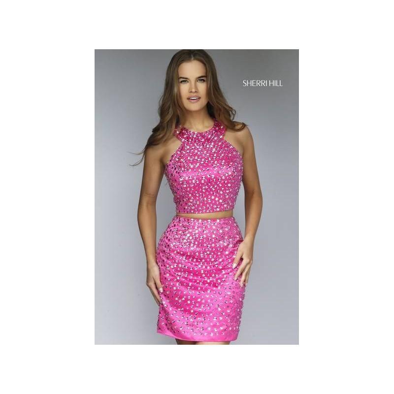 Свадьба - Sherri Hill 32314 Short Halter Two Piece Beaded Homecoming Dress - Crazy Sale Bridal Dresses