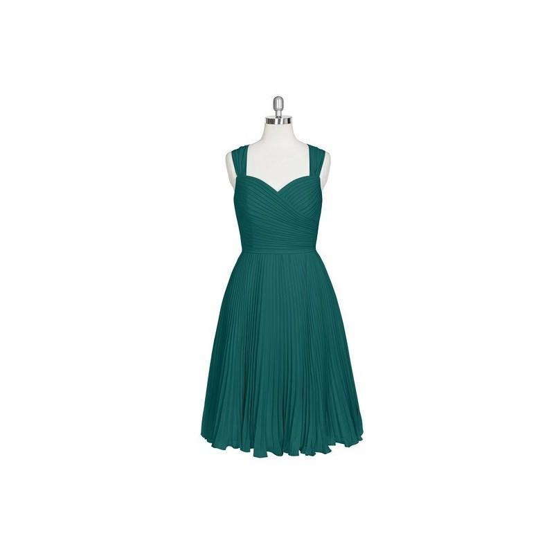 Mariage - Peacock Azazie Alana - Chiffon Sweetheart Back Zip Knee Length - Cheap Gorgeous Bridesmaids Store
