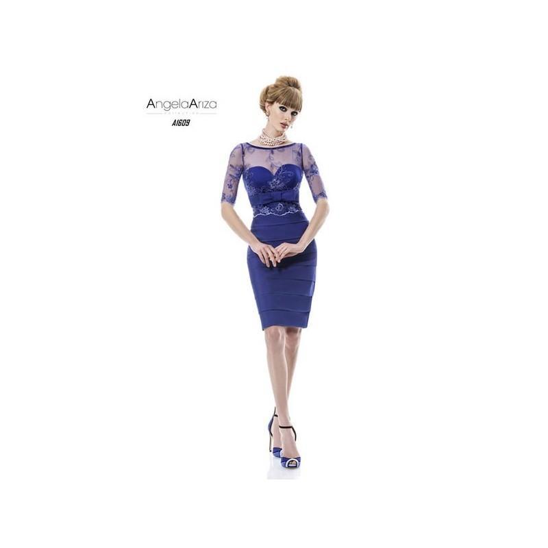 Wedding - Vestido de fiesta de Angela Ariza Modelo A1609 - 2014 Vestido - Tienda nupcial con estilo del cordón