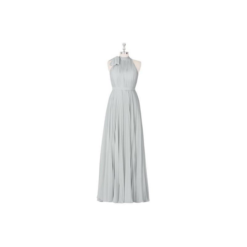 Hochzeit - Silver Azazie Cailyn - Back Zip Chiffon Halter Floor Length Dress - Cheap Gorgeous Bridesmaids Store