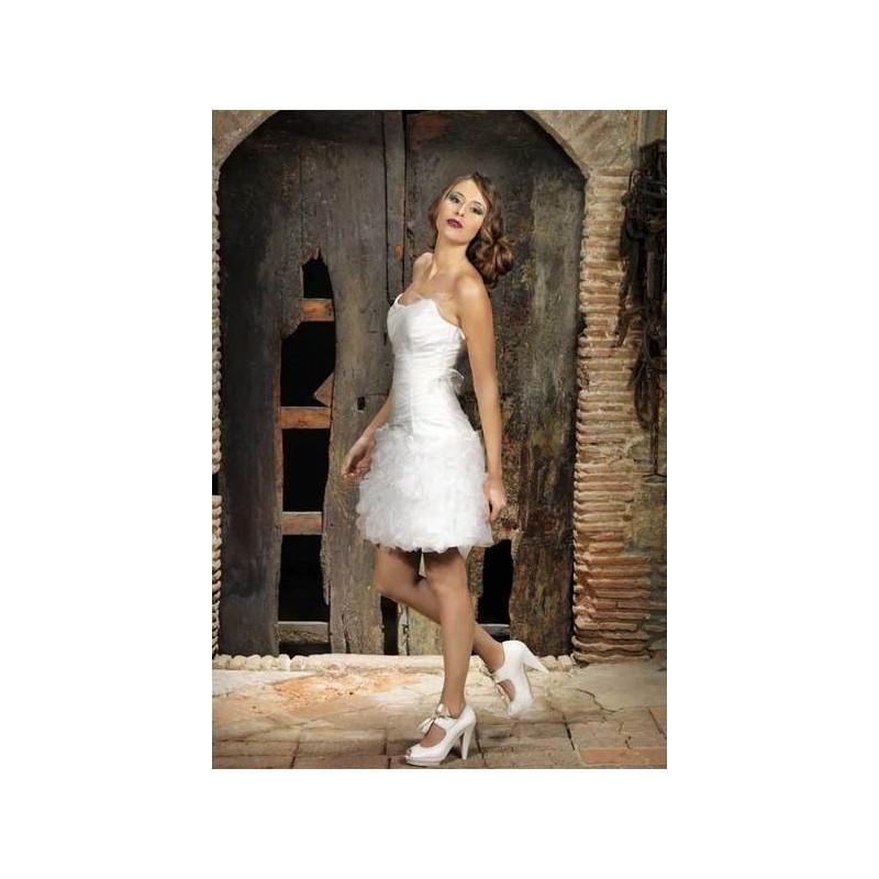 Hochzeit - Vestido de novia de Jordi Dalmau Modelo Fosforo - 2014 Otras Palabra de honor Vestido - Tienda nupcial con estilo del cordón