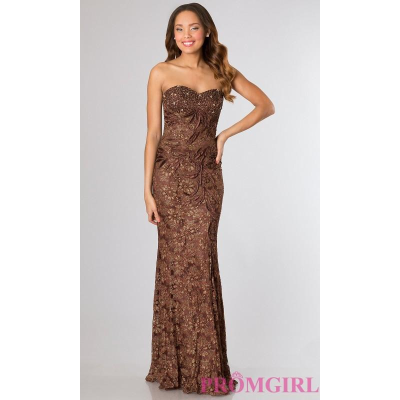 Wedding - Strapless Brown Formal Gown - Brand Prom Dresses