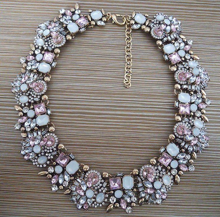 Mariage - Goddess CZ Flower Statement Necklace