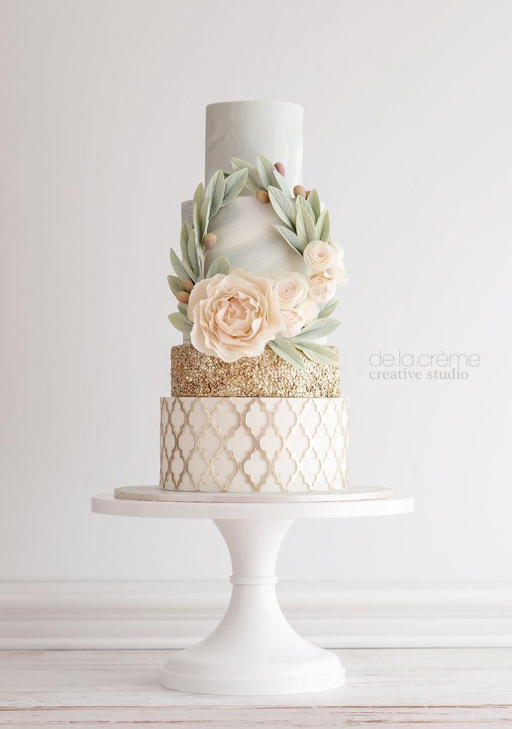 Wedding - 24 Stunning Wedding Cakes That Won 2016
