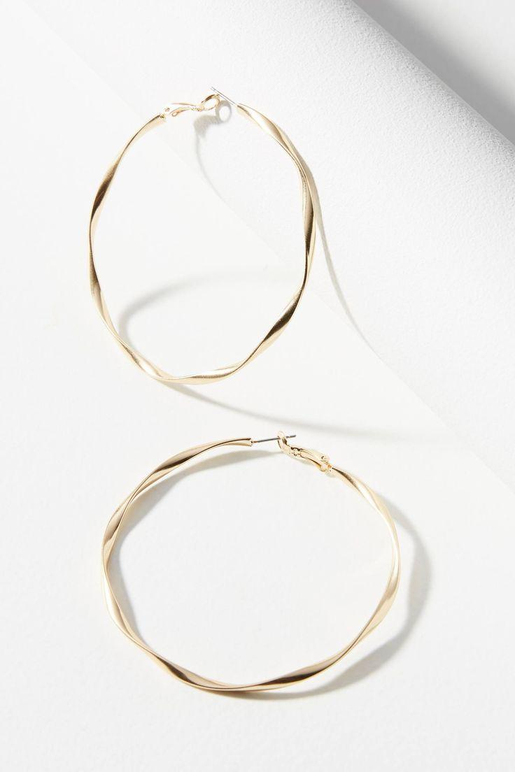 Wedding - Twisted Hoop Earrings