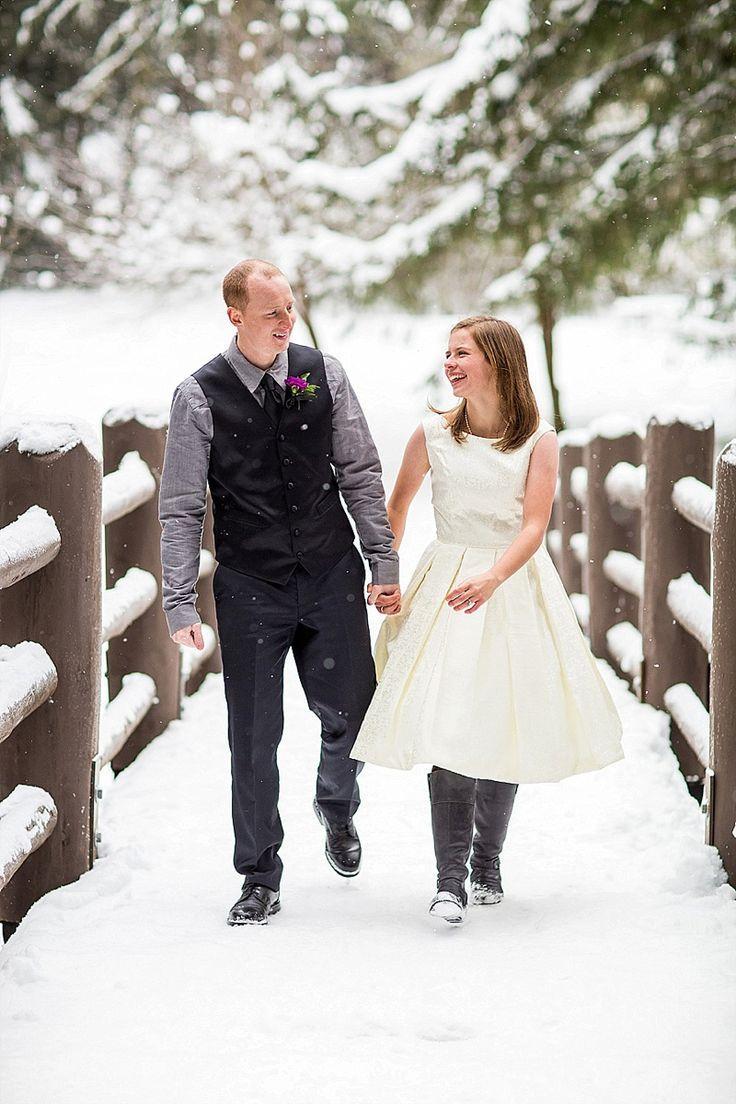 Hochzeit - Snowy State Park Wedding