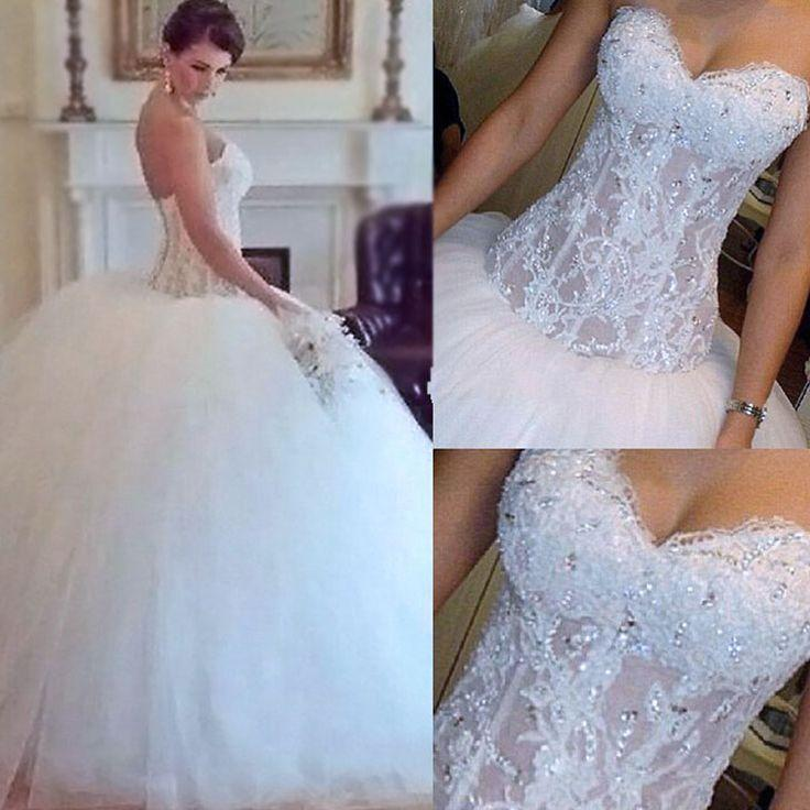 Hochzeit - A-line Chiffon With Lace Simple V-Neck Free Custom Handmade Wedding Dresses, WD0135