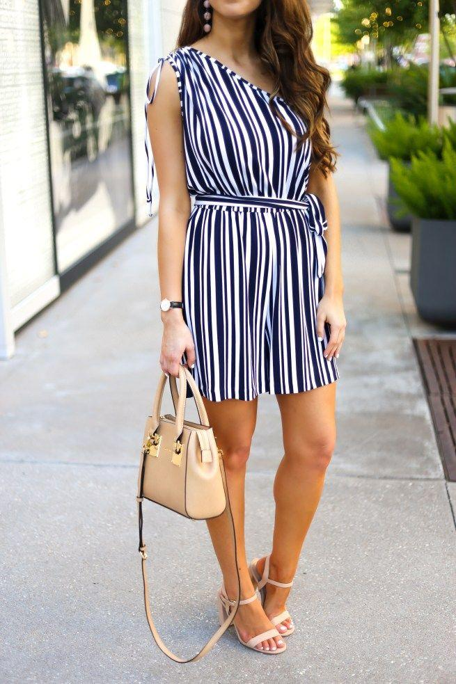Hochzeit - Stripe Romper For Petite And Tall Ladies