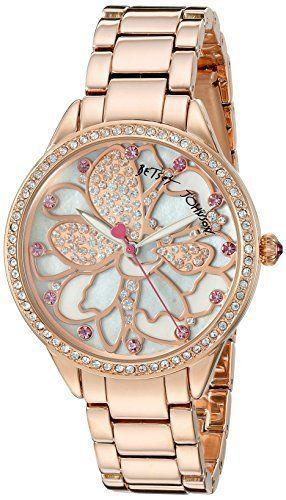 Wedding - Details About Betsey Johnson Women''s BJ00572-01 Analog Display Quartz Rose Gold Watch