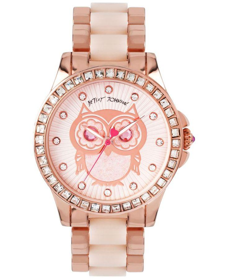 Wedding - Betsey Johnson Women's Blush And Rose Gold-Tone Bracelet Watch 40mm BJ00246-10