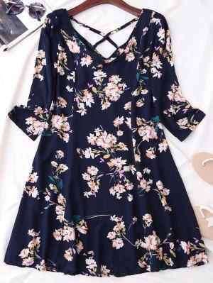 زفاف - Double-V Lace Up Denim Dress