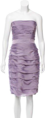 زفاف - Monique Lhuillier Bridesmaids Strapless Mini Dress