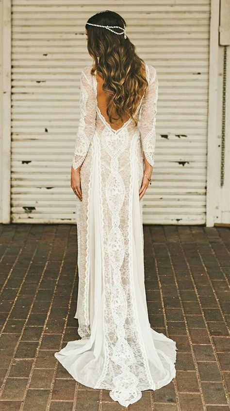 Wedding - 63 Stunning Bohemian Wedding Dresses To Make A Statement On Your Big Day
