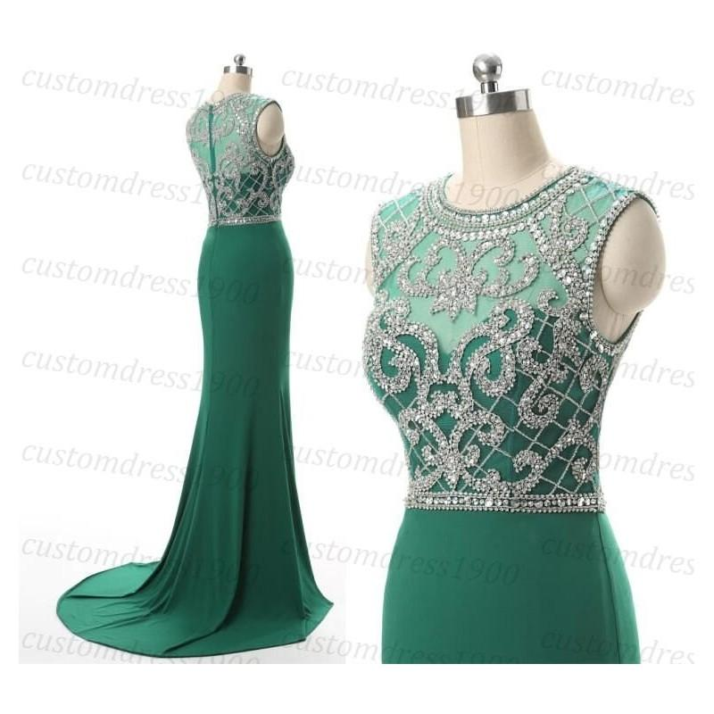 Mariage - Green long bridesmaid dress,sexy mermaid green wedding party gowns,handmade green chiffon bridesmaid gowns/long prom dress - Hand-made Beautiful Dresses