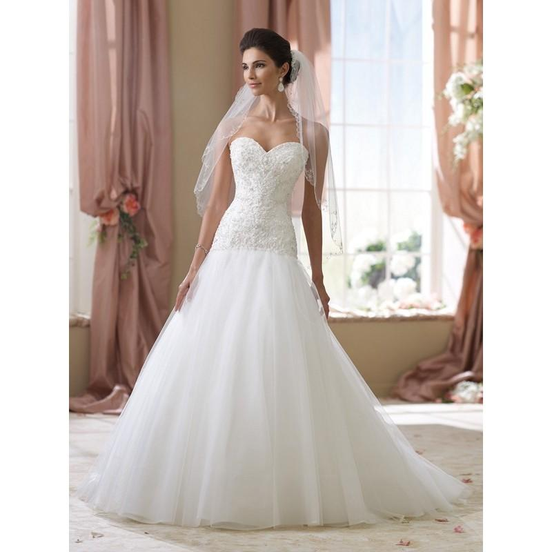 Wedding - David Tutera 114270 Cora Wedding Dress - Long Strapless, Sweetheart Wedding Drop Waist, Full Skirt David Tutera Dress - 2017 New Wedding Dresses