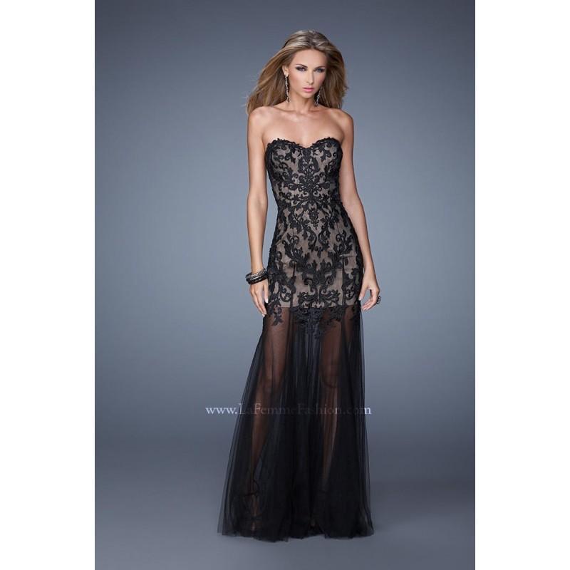 Wedding - La Femme 21114 Tulle Evening Dress - Brand Prom Dresses