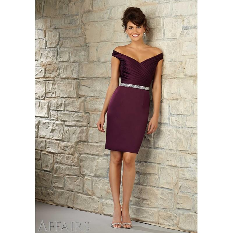 Wedding - Mori Lee Bridesmaids 31052 Off the Shoulder Satin Dress - Crazy Sale Bridal Dresses