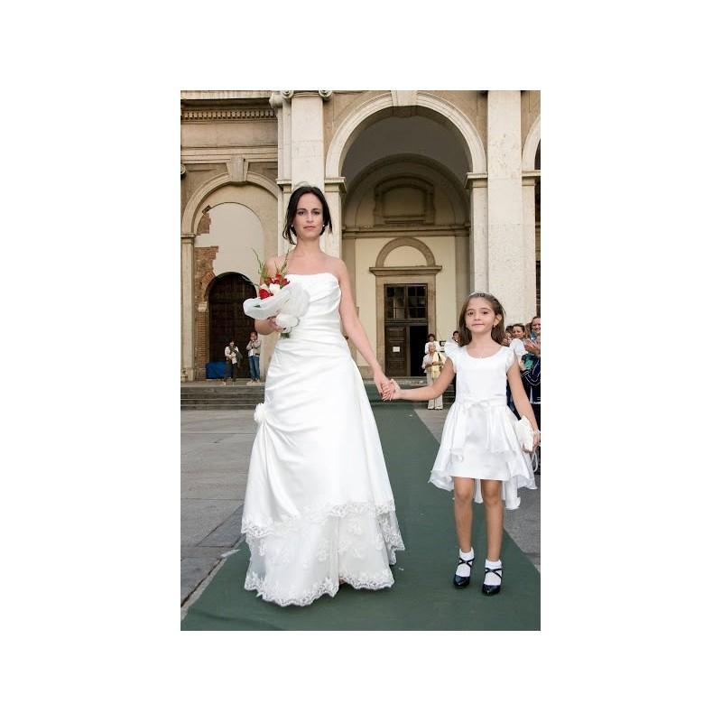 Wedding - Draping and lace, tulle and mikado - Hand-made Beautiful Dresses
