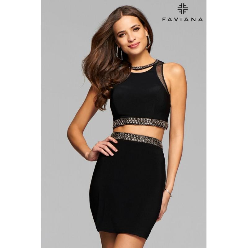 Wedding - Black/Bronze Faviana Glamour S7866 Faviana Glamour - Rich Your Wedding Day