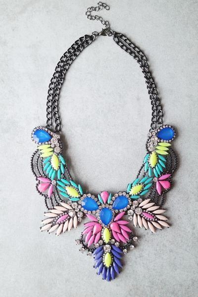 زفاف - Rio Bib Statement Necklace
