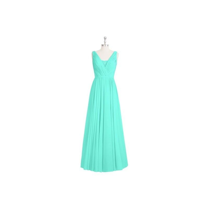 زفاف - Spa Azazie Ellen - V Neck V Back Floor Length Chiffon And Lace Dress - Cheap Gorgeous Bridesmaids Store