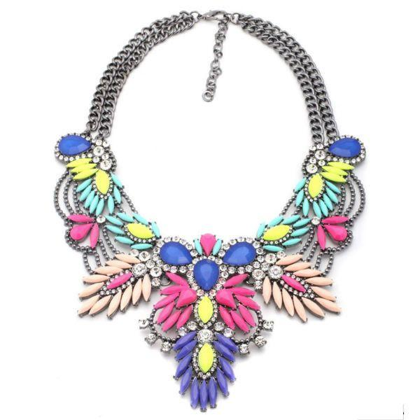 Свадьба - Kalista Statement Necklace - Colorful