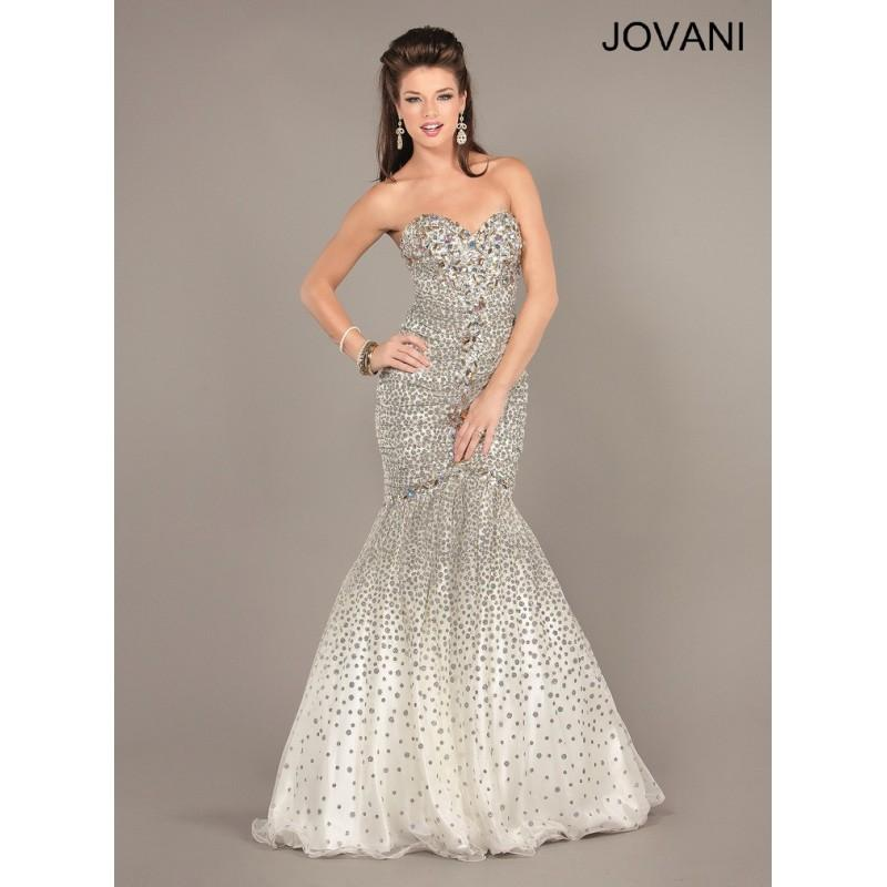 5472 Jovani Prom Ivory/Gold Size 12 Clearance - HyperDress.com ...
