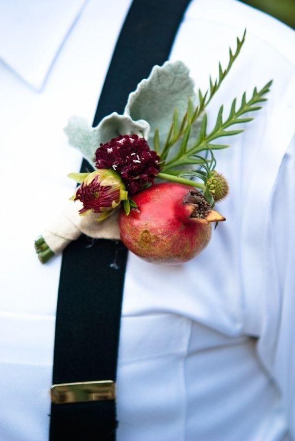 Wedding - Beautiful Pomegranate Wedding Arrangements And Ideas