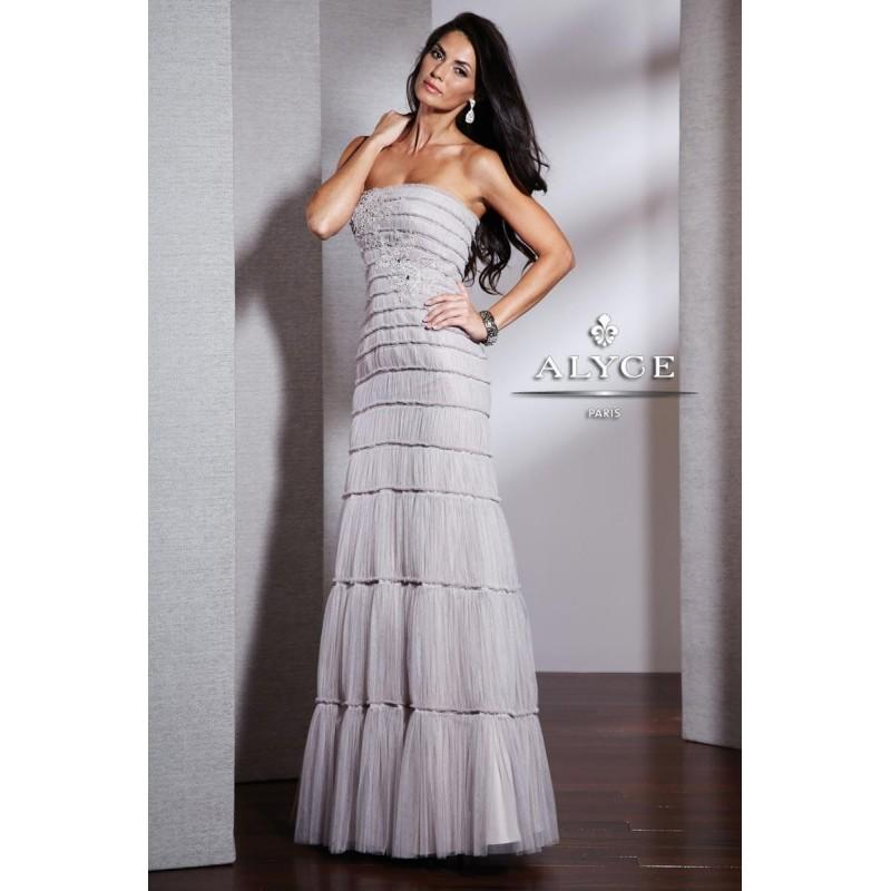Mariage - Alyce Black Label 5519 Shadow Gray,Misty Pink Dress - The Unique Prom Store