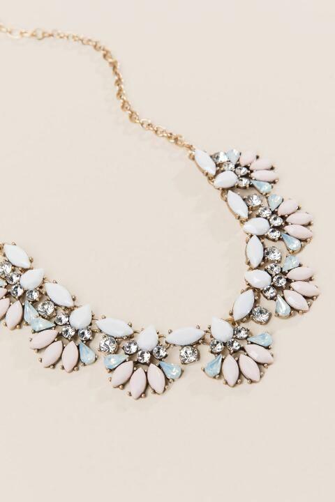 Wedding - Hailey Opaque Statement Necklace