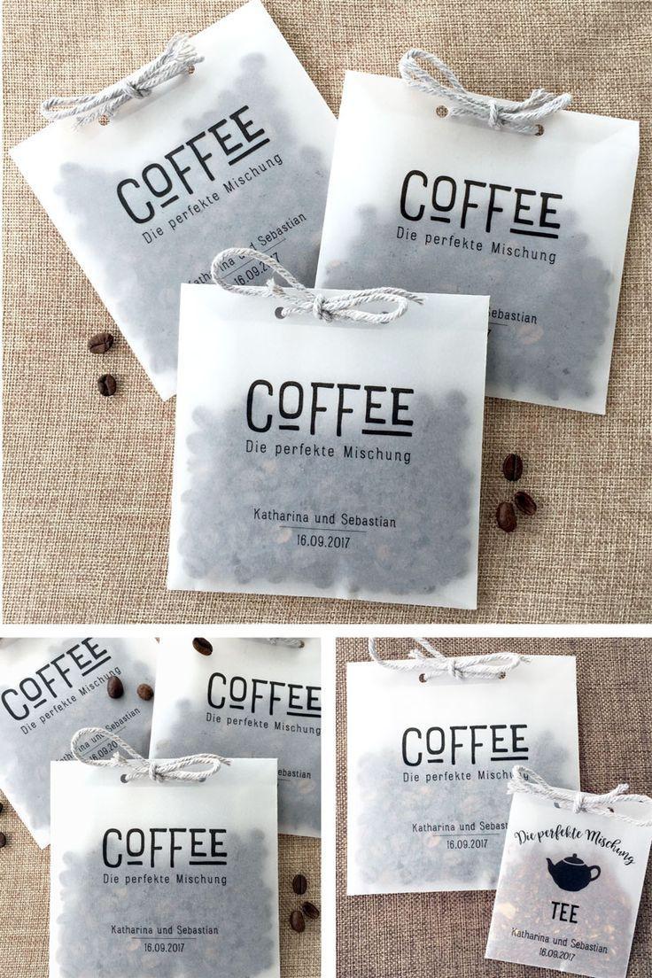 Boda - 10 Transparente Kaffeetüten Als Gastgeschenk