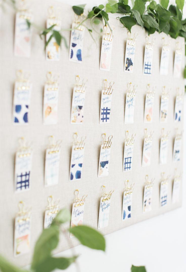 Wedding - DIY Escort Cards: The Crafty Way To Wow Your Guests