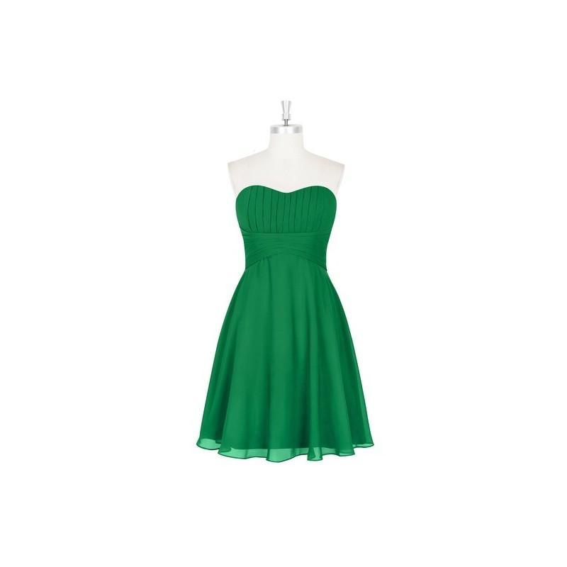 Hochzeit - Emerald Azazie Aryana - Sweetheart Back Zip Knee Length Chiffon Dress - Charming Bridesmaids Store
