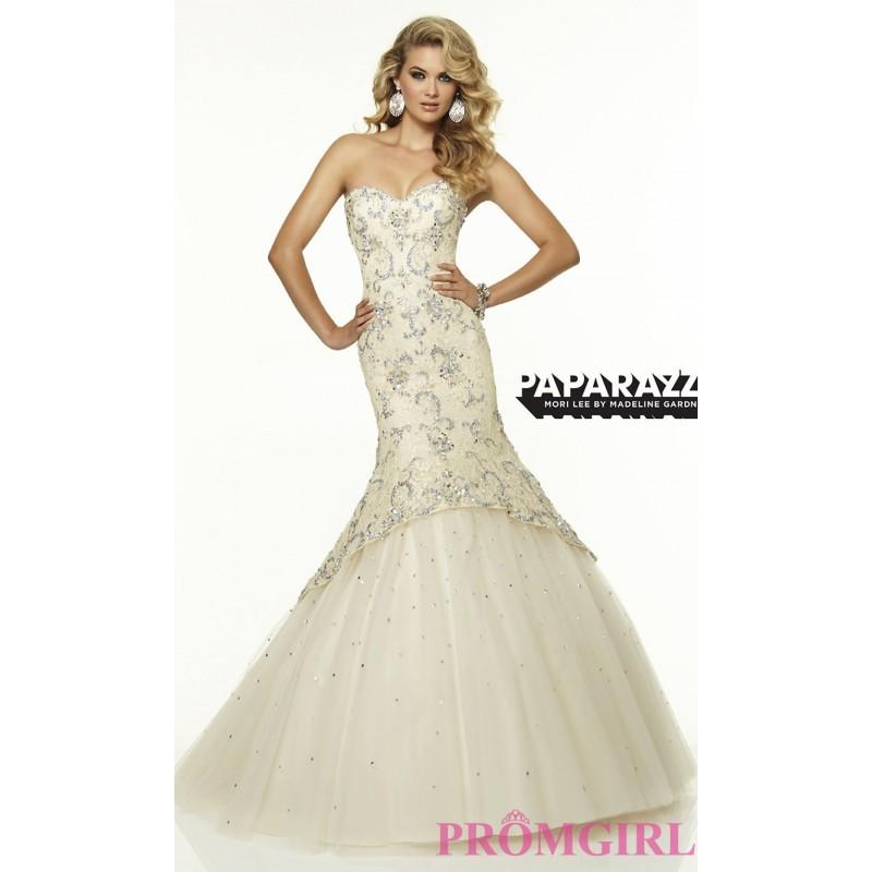 Elegant Strapless Mori Lee Mermaid Gown - Brand Prom Dresses ...